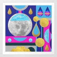 Abstractions No. 3: Moon Art Print