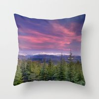 Spring Sunset At The Mou… Throw Pillow