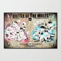 Battle Of The Moles Canvas Print