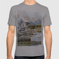 Yellowstone Hot Springs … Mens Fitted Tee Athletic Grey SMALL