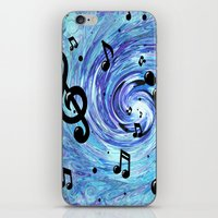Musical Blue iPhone & iPod Skin