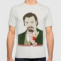 Monsieur Candie From Dja… Mens Fitted Tee Silver SMALL