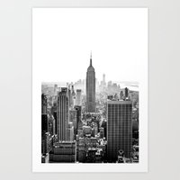 city Art Prints featuring New York City by Studio Laura Campanella