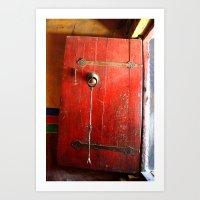 Red door 2 Art Print