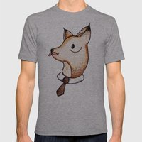 Master Fox Mens Fitted Tee Athletic Grey SMALL