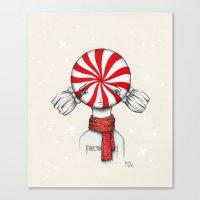 Minty Winter Canvas Print