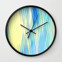 Re-Created Vertices No. 8 by Robert S. Lee Wall Clock