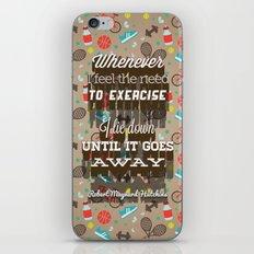 Exercising... iPhone & iPod Skin