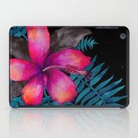 Pink Hibiscus Flower - BLACK iPad Case
