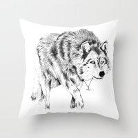 Mister Wolf Throw Pillow