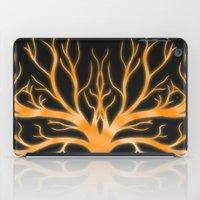 Ghostly Vines (Flaming Orange Ghost) iPad Case