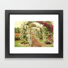 Promise Me A Rose Garden Framed Art Print