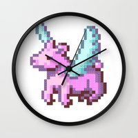 Kid Pix Pegasus Wall Clock