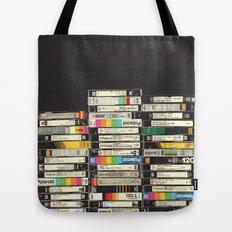 VHS Stack Tote Bag