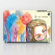 Trees are happy for no reason Osho quote inspirational words iPad Case
