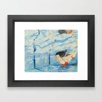 Apnea Framed Art Print