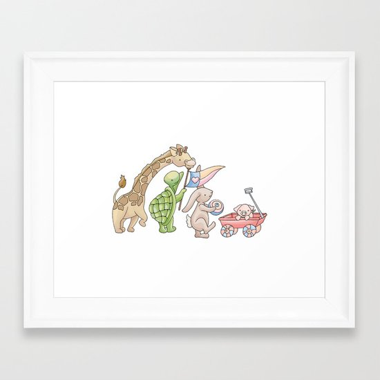 We're in a Parade Framed Art Print