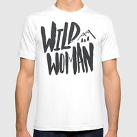 Wild Woman Mens Fitted Tee White SMALL