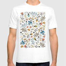 Floral Bloom SMALL White Mens Fitted Tee