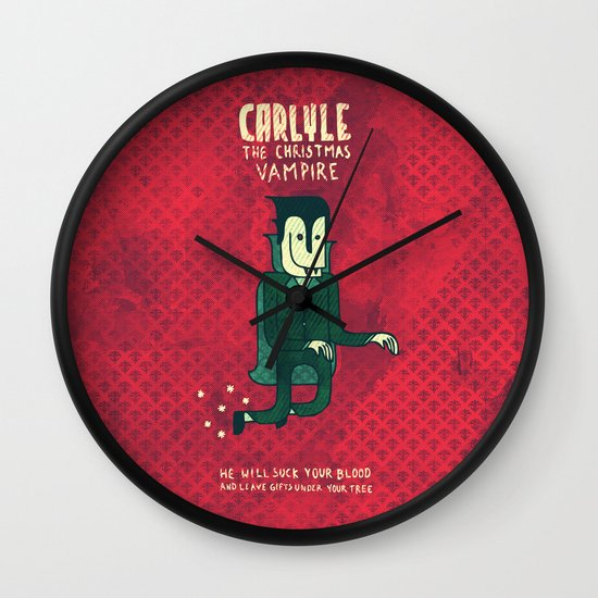 The Christmas Vampire Wall Clock