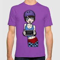 Wanted Skater Roller Der… Mens Fitted Tee Ultraviolet SMALL