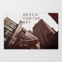R E A C H . F O R . T H … Canvas Print