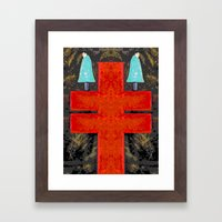DOUBLE CROIX Framed Art Print