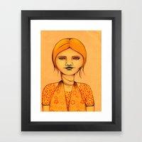 Brown Eyes Framed Art Print