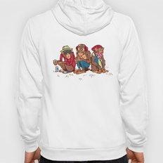 Three Wise Hipster Monkeys Hoody