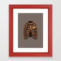 GOLDEN: CAGED Framed Art Print