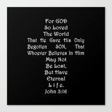 Jesus Cross Black White Canvas Print