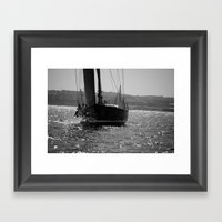 Sailing Majestically Framed Art Print