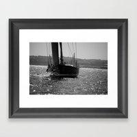Sailing Majestically Framed Art Print