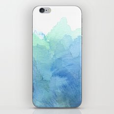 Abstract Watercolor Texture Blue Green iPhone & iPod Skin