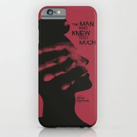iPhone & iPod Case featuring The Man who Knew Too Much - Alfred Hitchcock Movie Poster Minimal by Stefanoreves