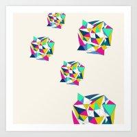 Geometric Worlds Art Print