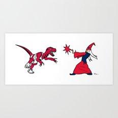 Raptors vs Wizards Art Print