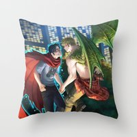 William And Theodore 12 Throw Pillow
