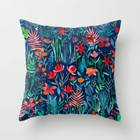 Tropical Ink - A Waterco… Throw Pillow
