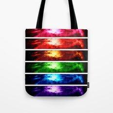 Rainbow Nebula Tote Bag
