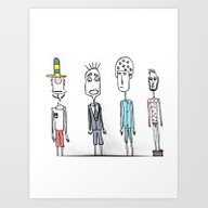 Little Monsters From My … Art Print