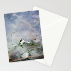 frozen lakes Stationery Cards