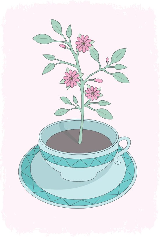 Auqa Planted Teacup Art Print