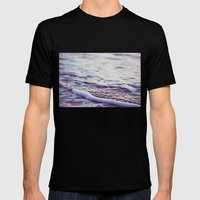 Morning Ocean Waves Mens Fitted Tee Black SMALL