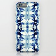 iPhone & iPod Case featuring Tie Dye Blues by Nina May Designs
