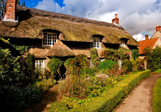 A Country Cottage Art Print