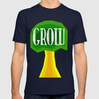 GROW Mens Fitted Tee Navy SMALL