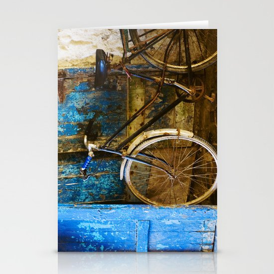 Blue Bicycle Stationery Card