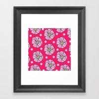 Primrose Polka Dot  Framed Art Print