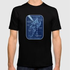 Full Armor of God - Warrior Girl 2 SMALL Mens Fitted Tee Black